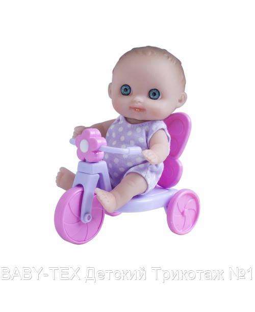 Пупс-малюк JC Toys з велосипедом, 13 см