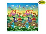 Детский двусторонний коврик Limpopo Динозавры и Подводный мир, 200х180 см, фото 3