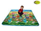 Детский двусторонний коврик Limpopo Динозавры и Подводный мир, 200х180 см, фото 4