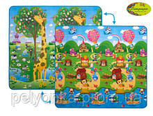 Дитячий двосторонній килимок Limpopo жираф Великий і Сонячний день, 200х180 см ШЛЮБ УПАКОВКИ