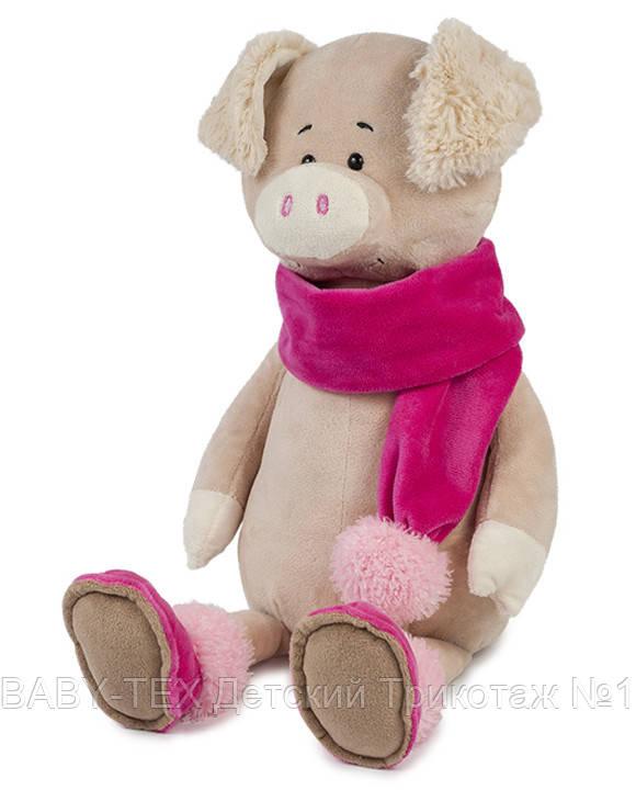 Свинка Ася в шарфику, 33 см