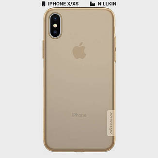 Захисний чохол Nillkin для Apple iPhone X / iPhone XS Nature TPU Series Brown, фото 2
