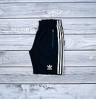 Черные мужские шорты Adidas с карманами на замках