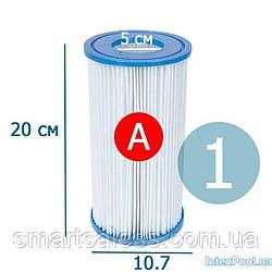 Змінний картридж для фільтр насоса Intex 29000 тип «А» 1 шт, 20 х 10.7 см