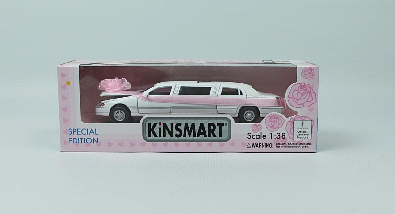 "KINSMART Мет. машина ""Lincoln Свадебный"""