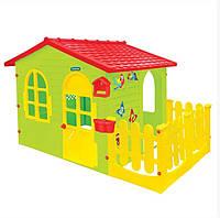 Дитячий пластиковий будиночок Mochtoys 12243 Десткий домик пластиковый