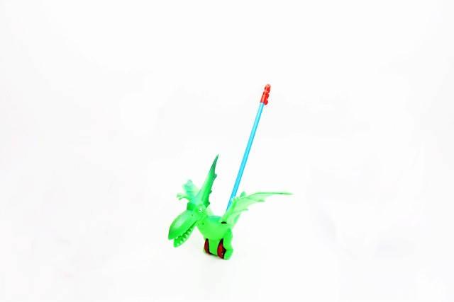 Каталка динозавр на палке, фото 2