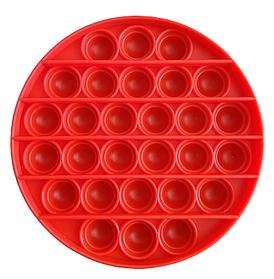 Cенсорная игрушка антистресс Pop it (Бесконечная пупырка поп ит) красный круг
