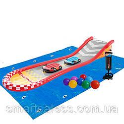 Надувной игровой центр - водная горка Intex 57167-2 «Веселая горка» 561 х 119 х 76 см, с досками для серфинга,
