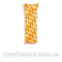 Пляжный надувной матрас с подголовником Intex 59712, 183 х 69 см, оранжевый