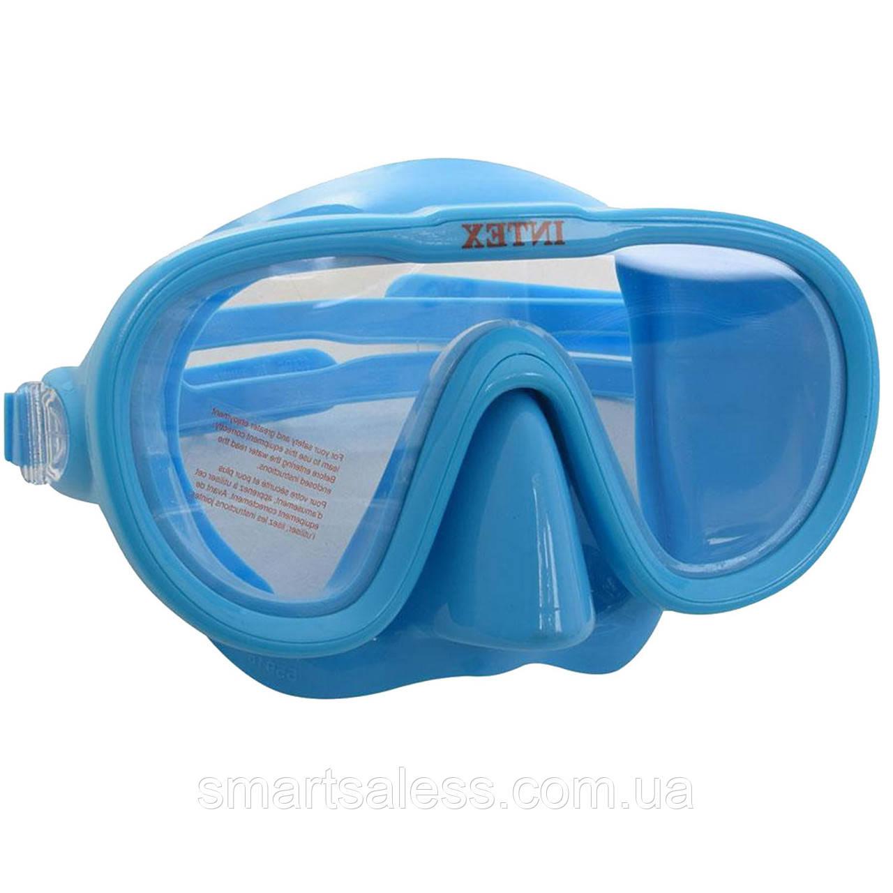 Маска для плавання Intex 55916, розмір L (8+), обхват голови ≈ 54 см, блакитна