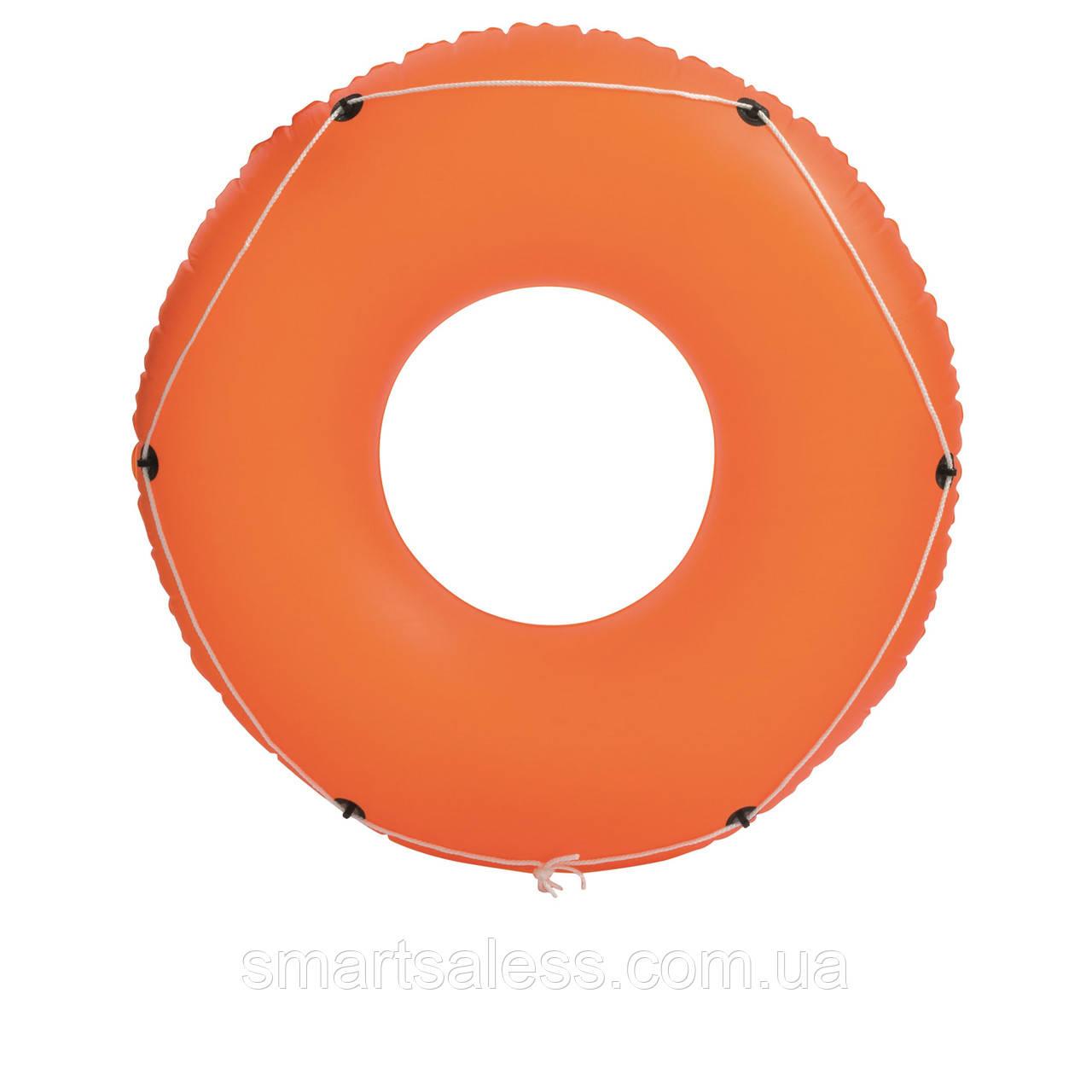 Надувной круг Bestway 36120 с канатом, 119 см, оранжевый