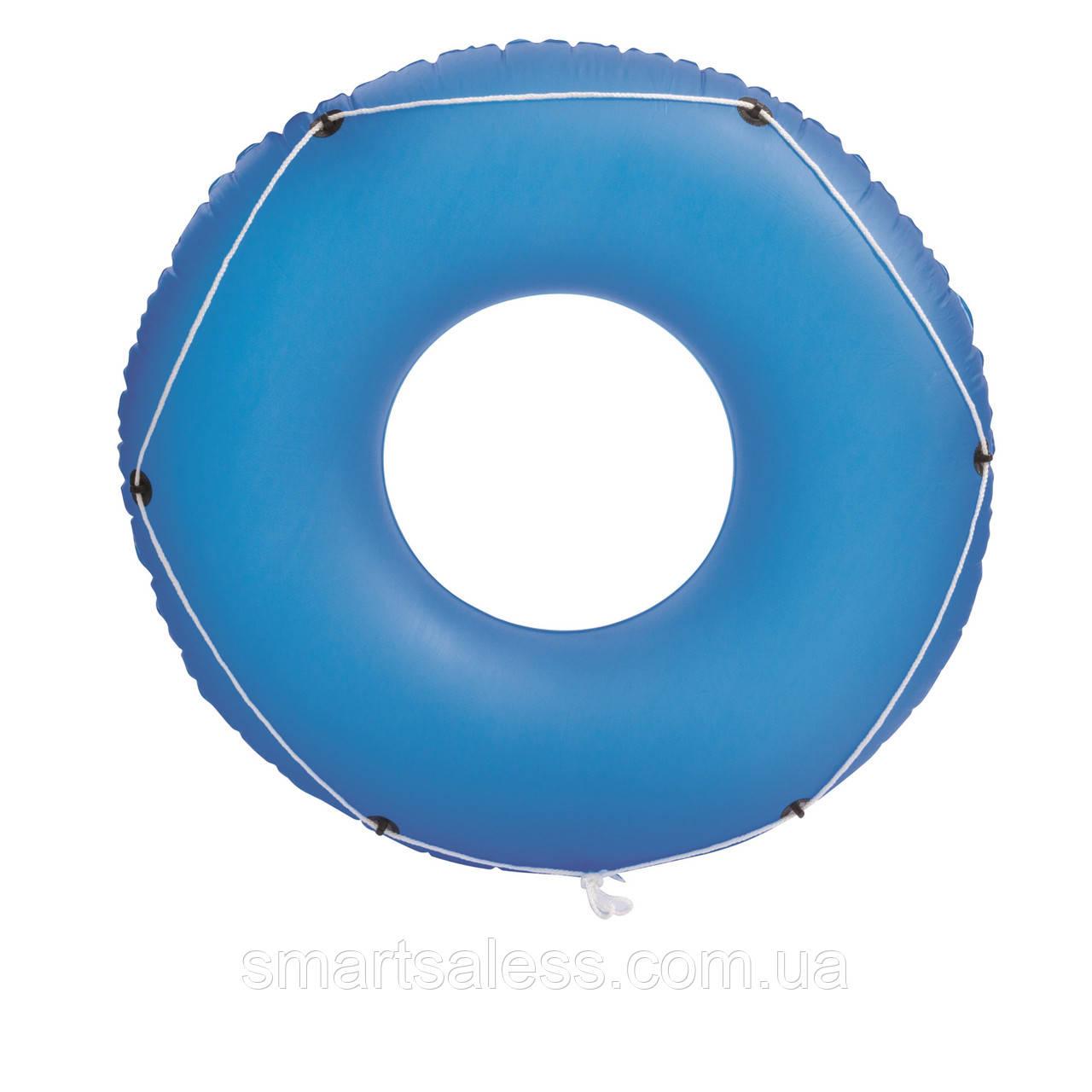 Надувной круг Bestway 36120 с канатом, 119 см, голубой