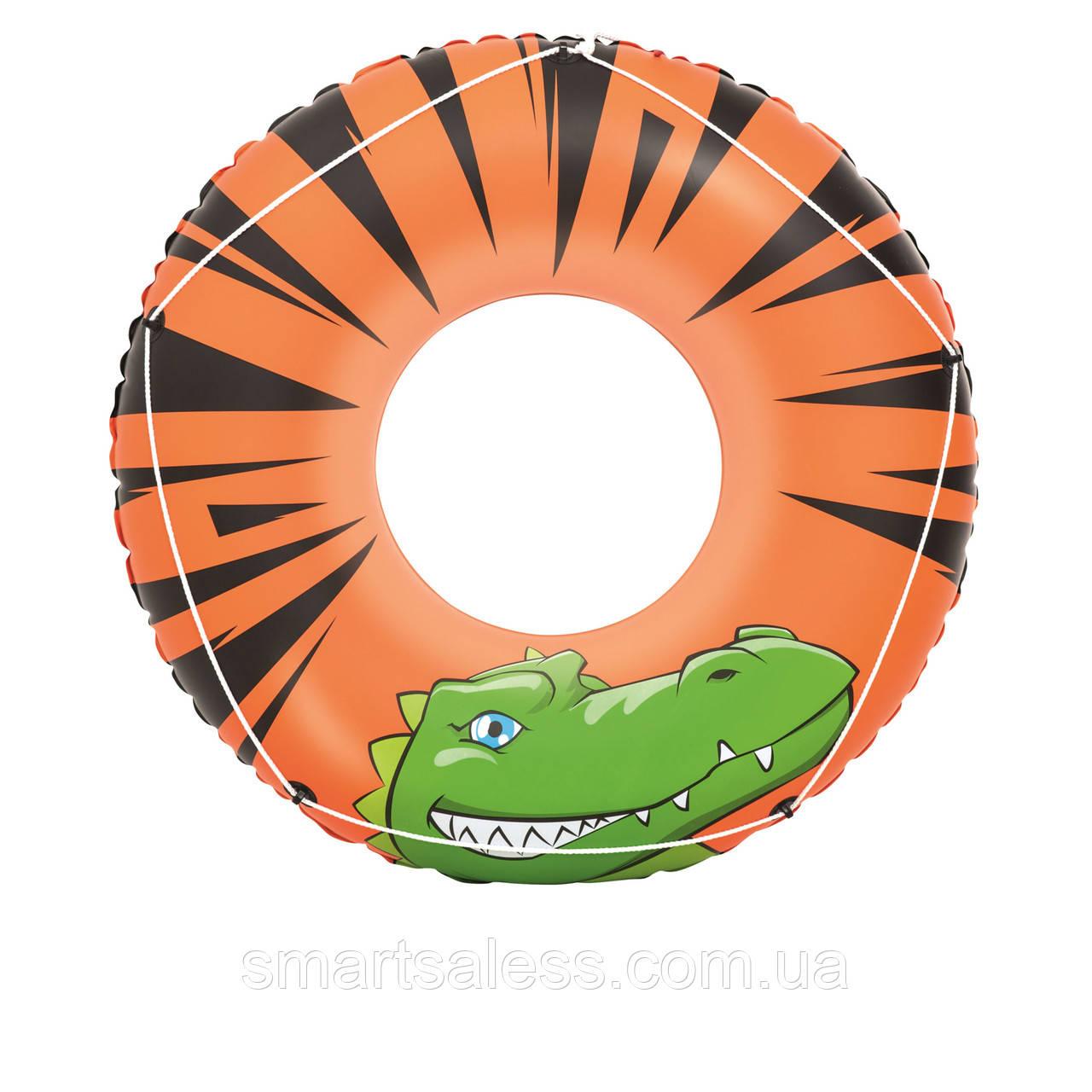 Bestway надувний круг 36108 «River Gator» з канатом, 119 см