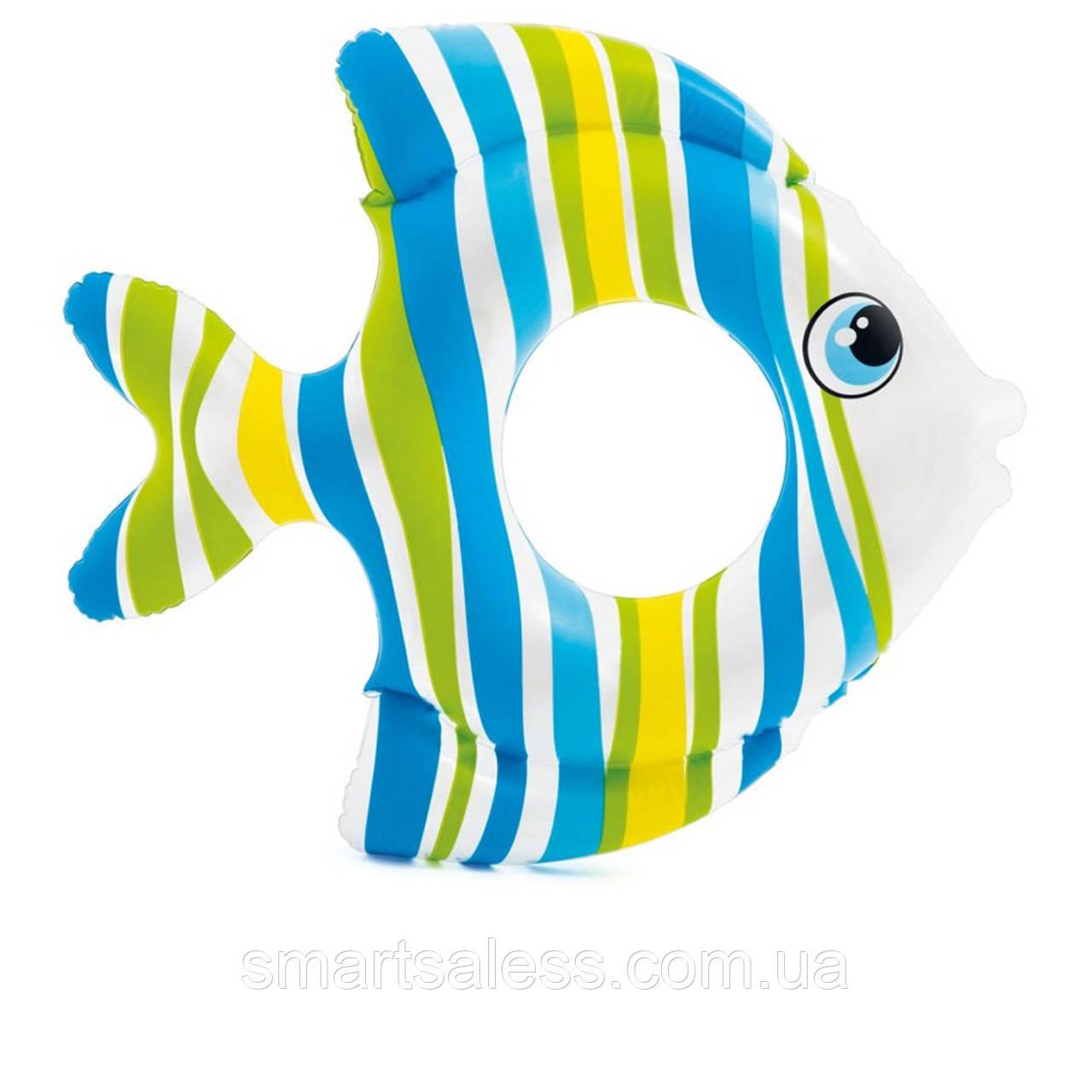 Надувной круг Intex 59223 «Рыбка», 83 х 81 см, голубой