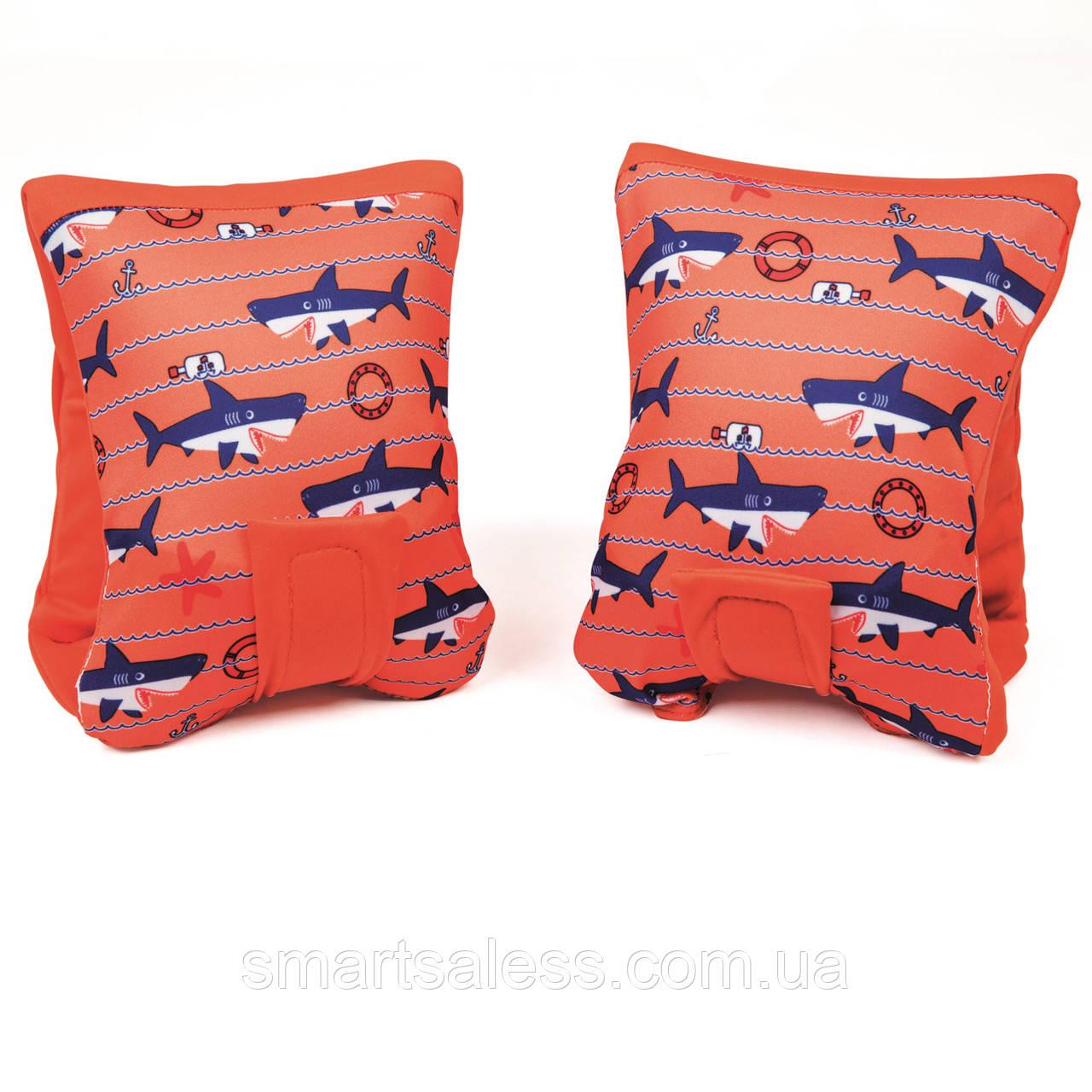 Нарукавники для плавання Bestway 32183, «Акула», 38 х 16.5 см, помаранчеві