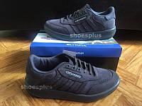 Мужские кроссовки Московский Адидас Олимпия кожаные старая модель, качественая обувь Olympia Иран Adidas серые