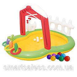 Надувной игровой центр Bestway 53065 «Ферма», 175 х 147 х 102 см, с надувными кольцами, игрушками и шариками 5