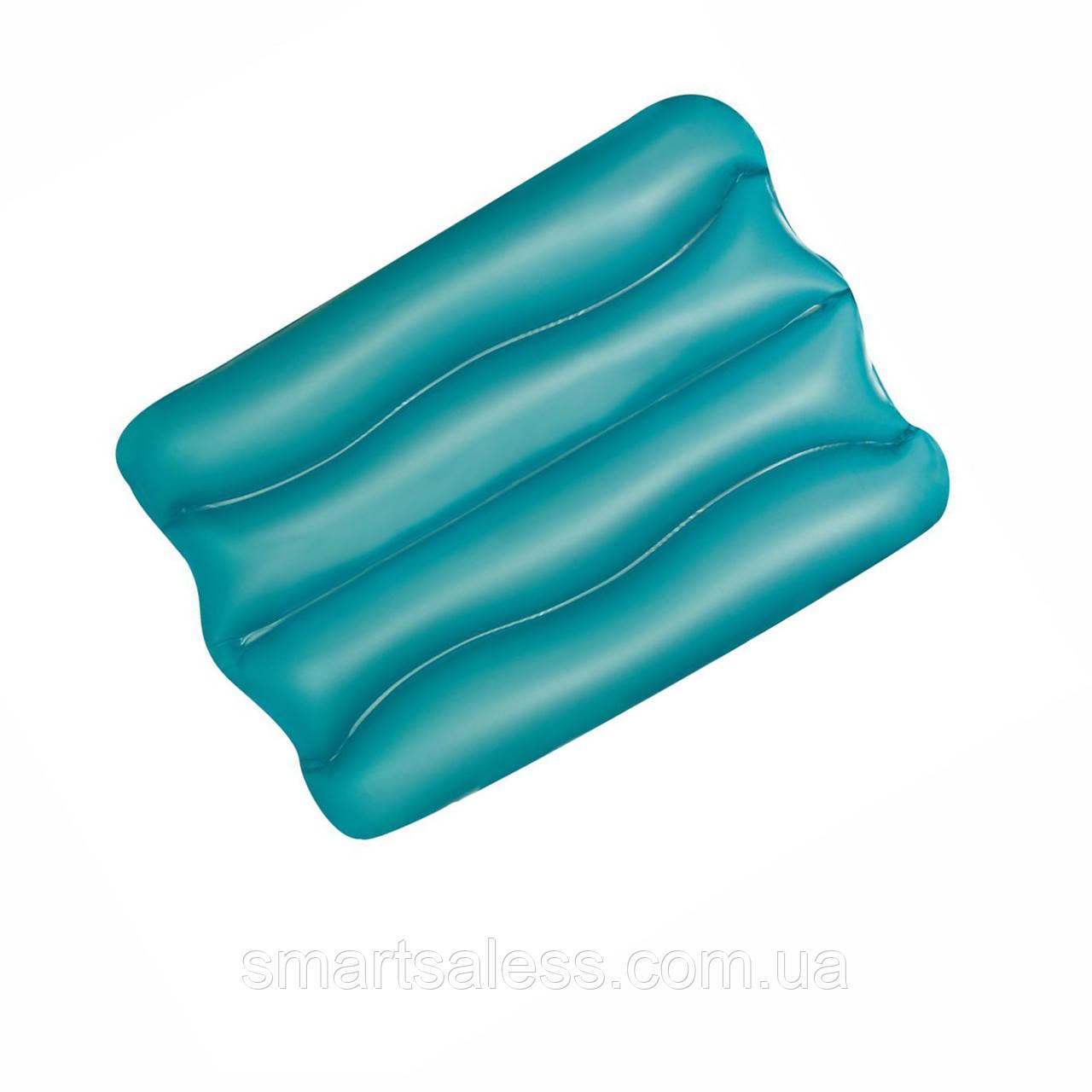 Надувная виниловая подушка Bestway 52127, голубая, 38 х 25 х 5 см
