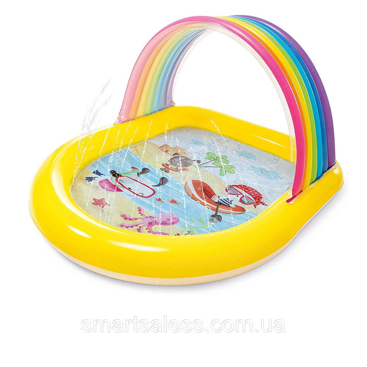 Дитячий надувний басейн Intex 57156 «Веселка», 147 х 130 х 86 см