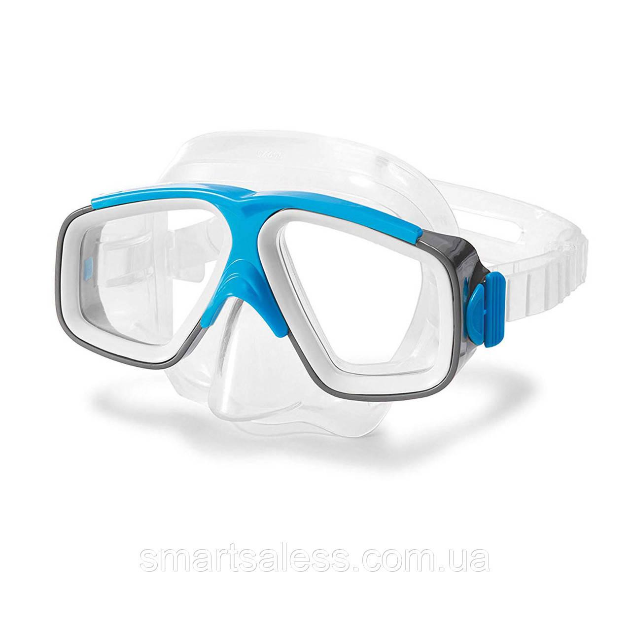 Маска для плавання Intex 55975, розмір L, (8+), обхват голови ≈ 54 см, блакитна
