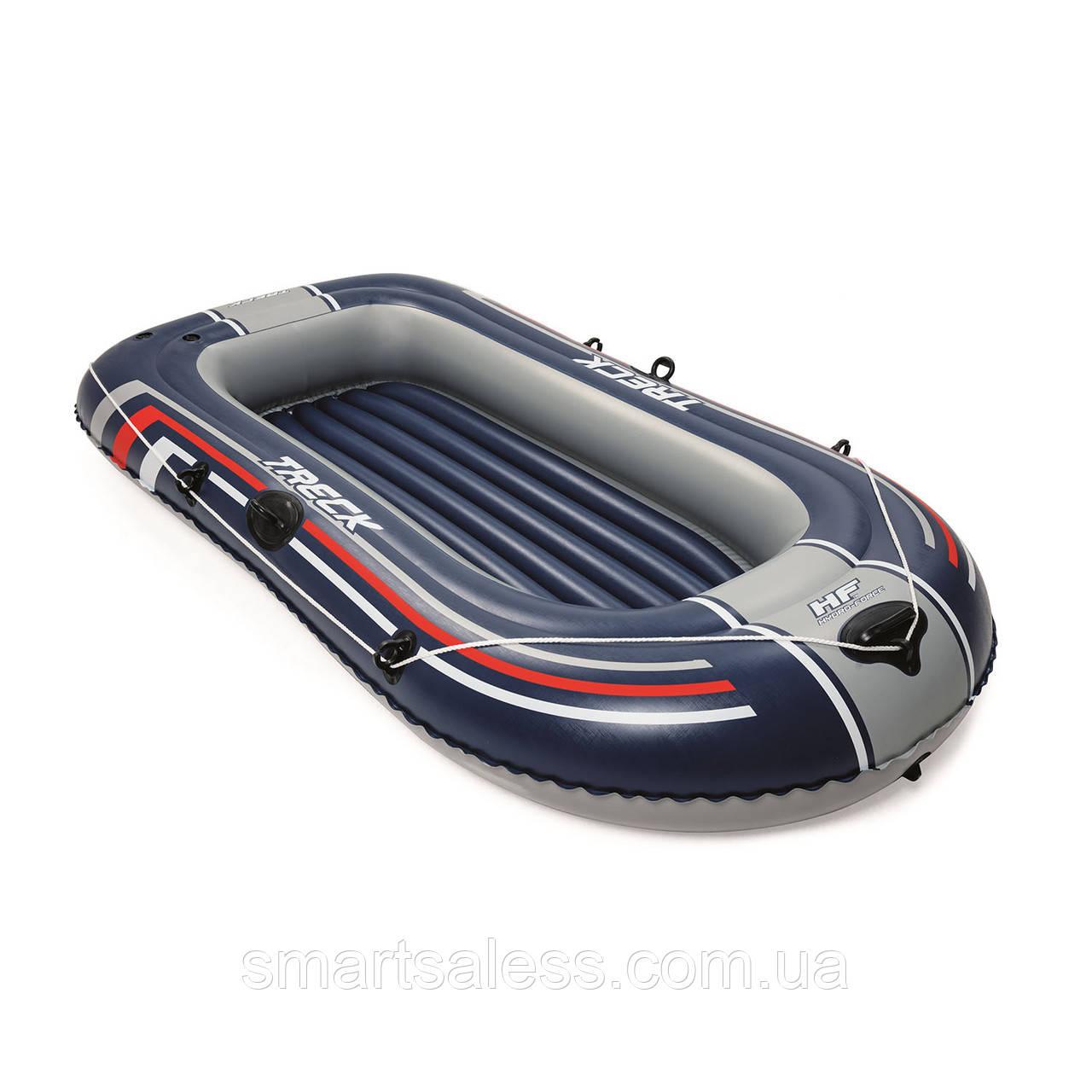 Двухместная надувная лодка Bestway 61064 Hydro - Force Raft, синяя, 228 х 121 см