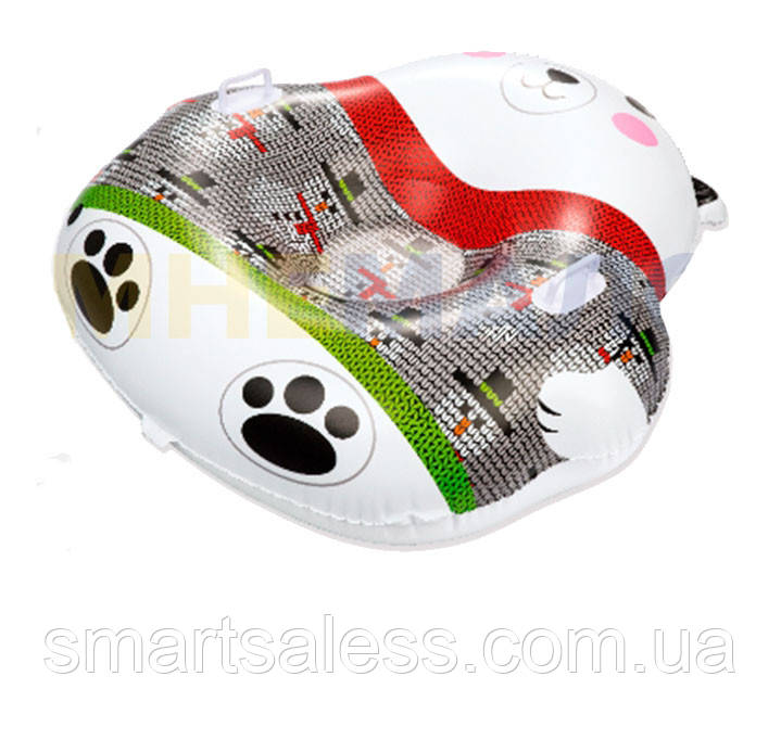 Одноместный надувной сани - тюбинг для катания Bestway 39063 «Мишка», 120 х 121 см