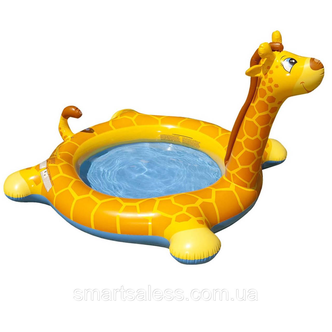 Уценка! Детский надувной бассейн Intex 57434 (Stock) «Жираф» с фонтаном, 208 х 165 х 122 см
