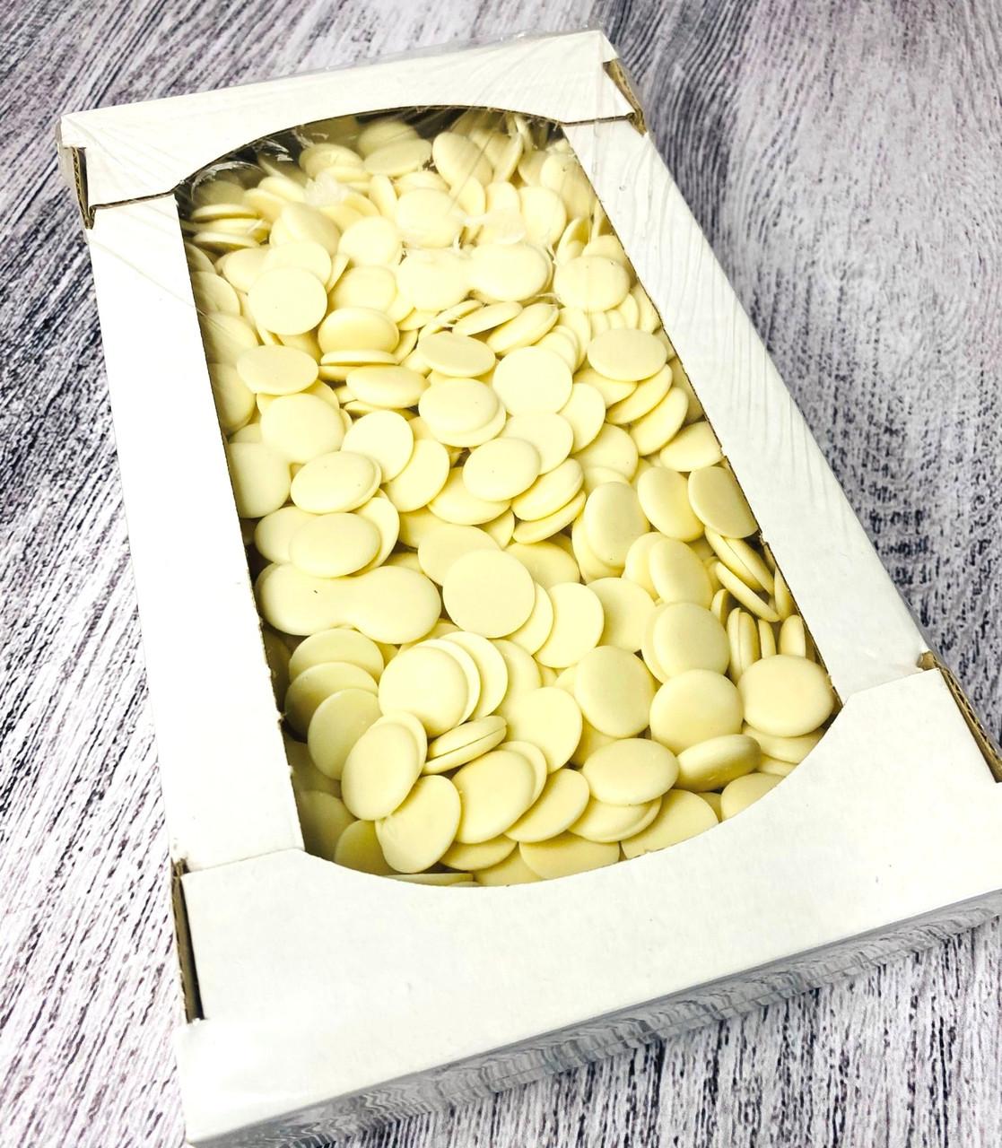 Глазурь кондитерская дропсы с белого шоколада (белые) 1 кг. ТМ Галицкие традиции