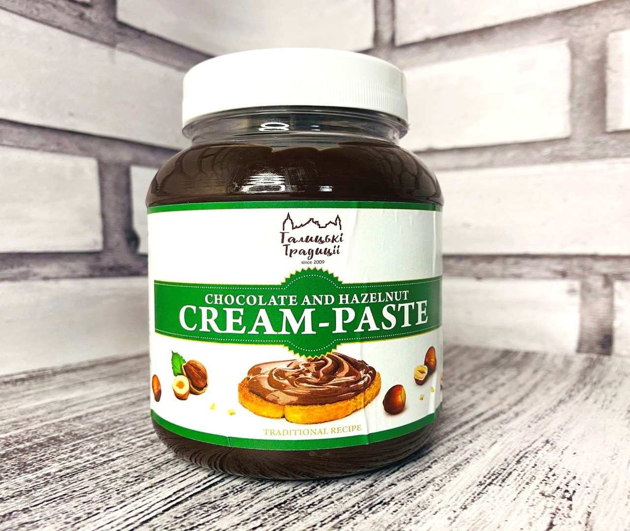Кремовая Паста шоколадно-ореховая 0,5 кг. банка ТМ Галицкие традиции