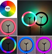 Кольцевая LED лампа RGB MJ38 (38см) (1 крепление) (управление на проводе + пульт)
