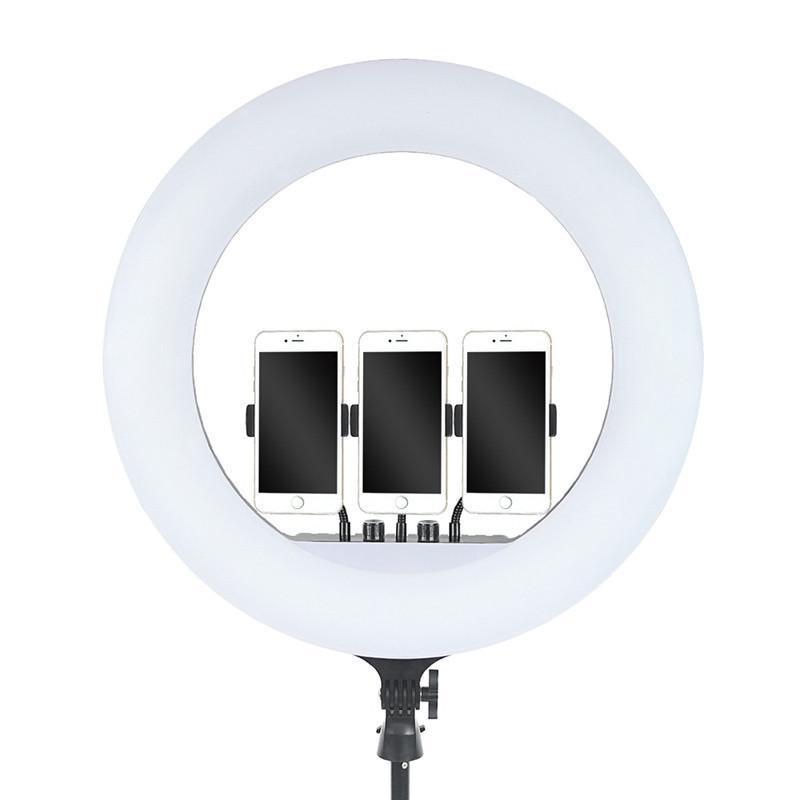 Кільцева LED лампа RL-21 55 см з 3-ма кріпленнями, штативом, пультом і сумкою
