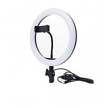 Кольцевая светодиодная LED лампа SMN-12 30см с 1 креплением для телефона USB