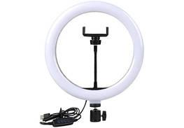 Кольцевая LED лампа LC-330 (1 крепл.тел.) USB (33см БЕЗ ШТАТИВА, только лампа