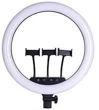Кольцевая LED лампа LS-360 (35 см) Кольцевой свет. Светодиодная лампа для селфи + пульт 3 крепл. тел.
