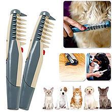 Расческа для шерсти животных Knot Out Electric Pet Comb электрорасческа груминг колтуны