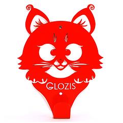 Вішалка настінна Дитяча Glozis Kitty Red H-018 17 х 13 см, - КОД: 241755