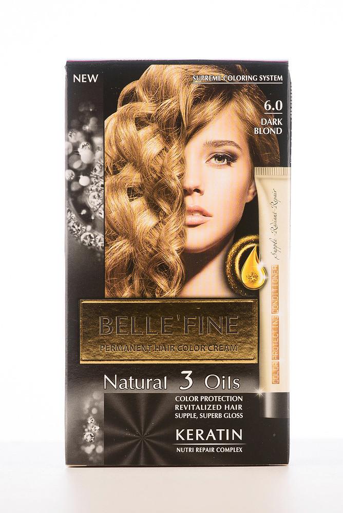 BELLE'FINE Фарба для волосся 6.0 Темно-русявий