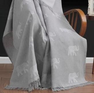 Плед-накидка Eponj Home Buldan Keten - Fil 170*220 gri сірий