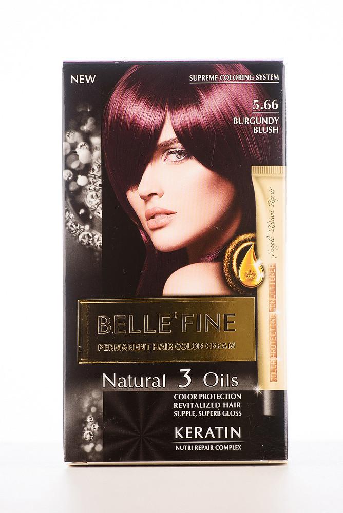 BELLE'FINE Фарба для волосся 5.66 Бургундово-червоний