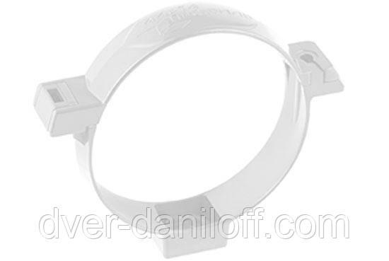 Хомут трубы Альта-Профиль Стандарт 74 мм белый