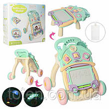 Розвиваюча іграшка Каталка-ігровий центр S920 музика, звук, світло, годинник, дощечка для малювання