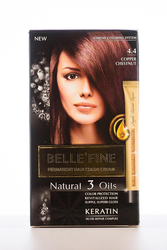 BELLE'FINE Фарба для волосся 4.4 Мідний каштан
