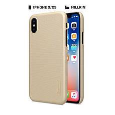 Захисний чохол Nillkin для Apple iPhone X / iPhone XS Frosted Shield Series + захисна плівка Brown, фото 2
