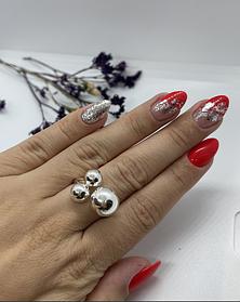 Кольцо из серебра 925 пробы родированное Диор