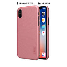 Защитный чехол Nillkin для Apple iPhone X / iPhone XS Frosted Shield Series + защитная пленка Red, фото 2