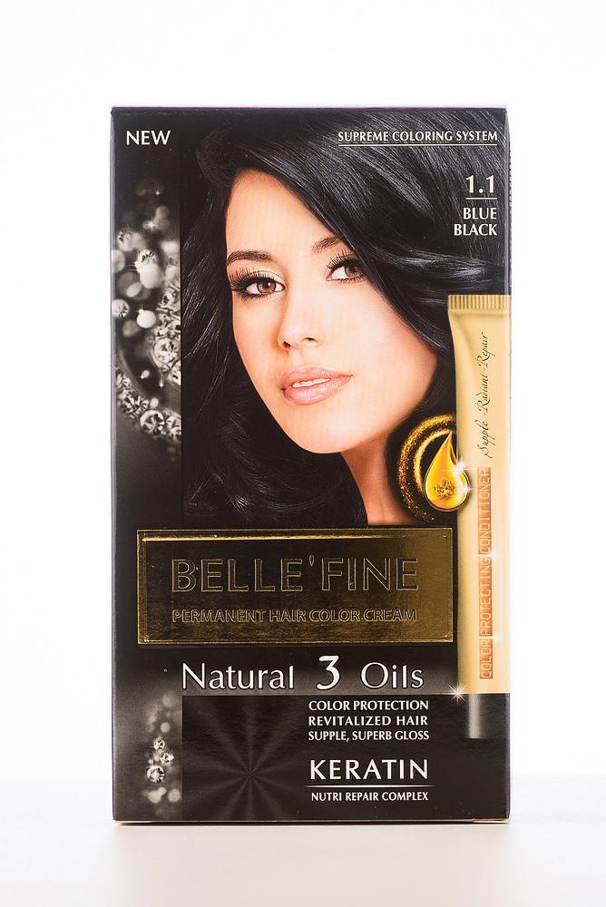 BELLE'FINE Фарба для волосся 1.1 Синяво-чорний