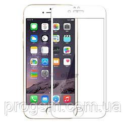 Захисне скло iPhone 6 Plus, 6S Plus (5.5) біла рамка 3D (0.26 mm)