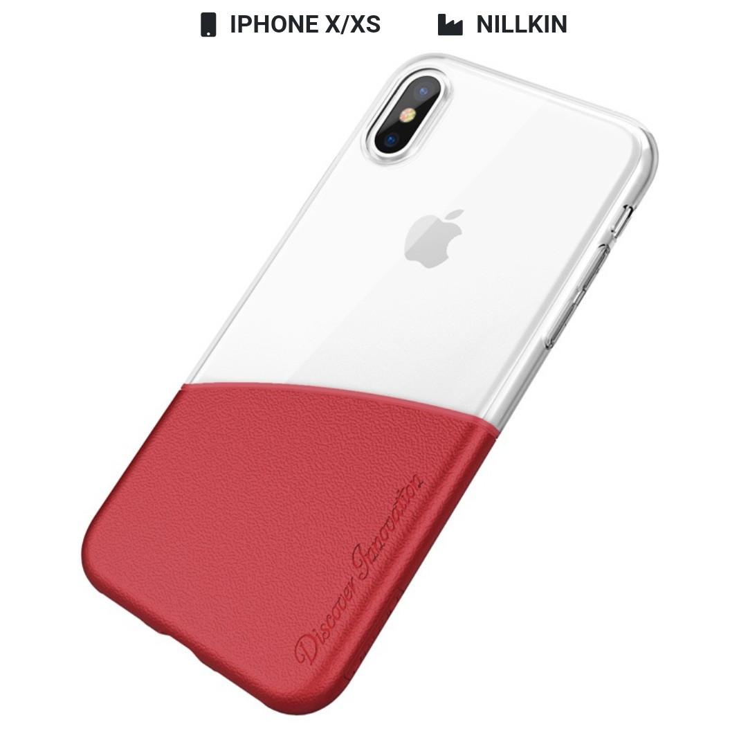 Захисний чохол Nillkin для iPhone X / iPhone XS Half Series Red
