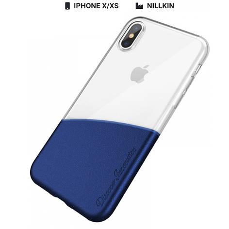 Захисний чохол Nillkin для iPhone X / iPhone XS Half Series Blue, фото 2